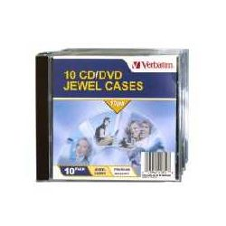 Verbatim 41852 CD/DVD Jewel Cases (10PK)