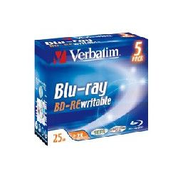 Verbatim 43615 2x BD-RE 25GB Jewel Case (5Pk)
