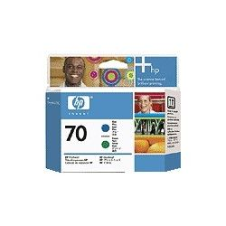HP C9408A No.70 Blue and Green Printhead - GENUINE