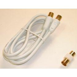 Sansai CB-1.5M TV/Video RF Cable M-M with Gender Changer 1.5m