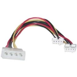 8Ware RC-5039 Molex Power Splitter Cable 2x3.5 F - 1x5.25 M 30cm