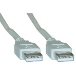 8Ware UC-2005AA USB 2.0 Certified Cable A-A 5m Transparent Metal Sheath UL Approved