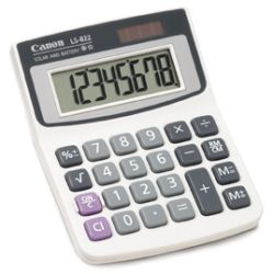 Canon CLS82ZBL LS82ZBL 8 Digit Dual Power Calculator