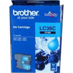 Brother LC38C Cyan Ink Cartridge (0.26K) - GENUINE