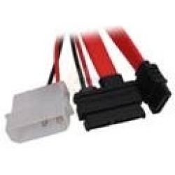 8Ware SATA-E009 Molex to Slimline SATA Power + Data Cable 15cm + 80cm
