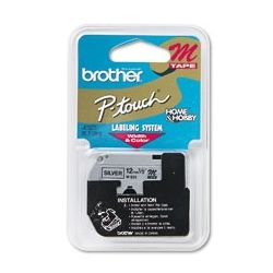 Brother M931 Black on SIlver P-Touch Tape 12mm - GENUINE