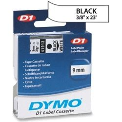 Dymo SD40913 40913 D1 Label Cassette 9mm x 7m - Black/White