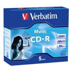 Verbatim V62620 CD-R CD/DVD Audio (5PK)