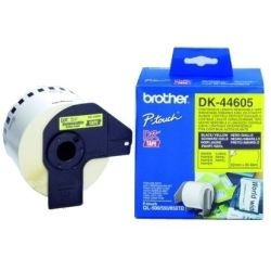 Brother DK-44605 Removeable Yellow Continuous Paper Roll 62mm x 30.48m