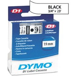Dymo SD45803 45803 D1 Label Cassette 19mm x 7m - Black/White
