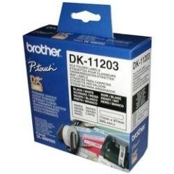 Brother DK-11203 White File Folder Labels 17mm x 87mm, 300 Labels per roll