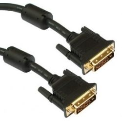 DVI-DD1 DVI-D Dual-Link M-M Cable Gold Plated 1.5m OEM Pack - Black