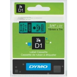 Dymo SD45809 D1 Label Cassette 19mm x 7m - Black on Green
