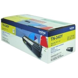 Brother TN-340Y Yellow Toner Cartridge (1.5K) - GENUINE