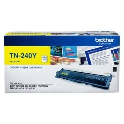 Brother TN-240Y Yellow Toner Cartridge (1.4K) - GENUINE