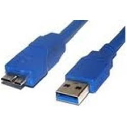 8Ware UC-3003AUB USB 3.0 Certified Cable - USB A Male to Micro-USB B Male, Blue 3m