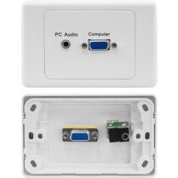 Media Hub PK3307 Straight VGA, 3.5mm Audio Clipsal Wall Plate