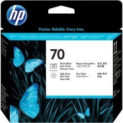 HP C9407A No.70 Black and Light Grey Printhead - GENUINE