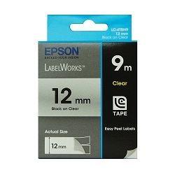 Epson S625101 Tape Clear 12mm Black 9m - GENUINE