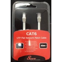 8Ware PL6F-1WH RJ45M - RJ45M Cat6 Flat Network Cable 1m - White