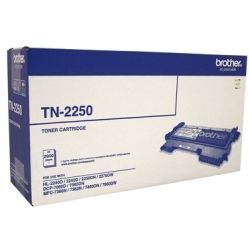 Brother TN-2250 Black Toner Cartridge (2.6K) - GENUINE