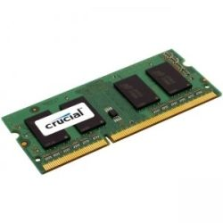 Crucial DDR3 SODIMM PC12800-4GB 1600Mhz 512x8 CL11 Single Ranked Notebook Memory RAM