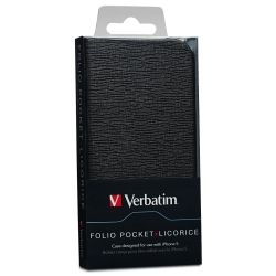 Verbatim Folio Pocket for iPhone 5 - Liquorice Black