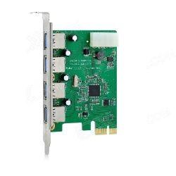IOCrest IOUSB4.3-B4 USB 3.0 4-Port PCI Express Card (2external/1internalheader)