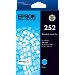 Epson 252 STD Capacity DURABrite Ultra Cyan Ink for WorkForce Pro WF-3620, 3640, 7610, 7620