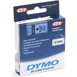 Dymo SD45016 45016 D1 Label Cassette 12mm x 7m - Black/Blue