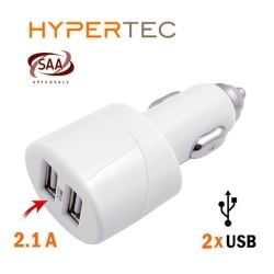 HYPERTEC USB Dual Car Charger