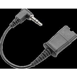 Plantronics 40845-01 Cable ASSY, 3.5mm, Right Angle Plug, QD (single)