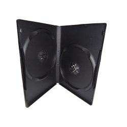 BCASEDVDL2B No 12 - Laser DVD Case - CARRIES 2 DVD (14mm, Black)