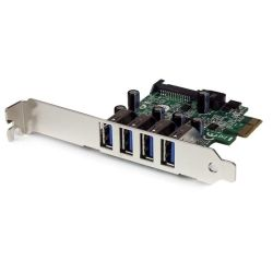 StarTech 4-Port PCI Express PCIe SuperSpeed USB 3.0 Controller Card Adapter with UASP - SATA Power