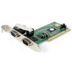 StarTech 2-Port PCI RS232 Serial Adapter Card with 16550 UART