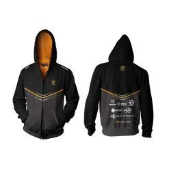 Fnatic Black XL Player Zipped Hoodie 2014