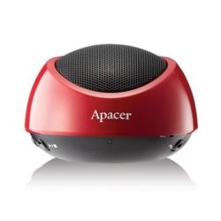 Apacer Bluetooth Speaker WS211 Red Retail Pack with Carry Case, Support NFC in Android