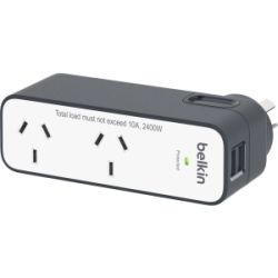 Belkin International Travel Surge with 2 USB Ports (2.4A)