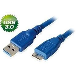 8Ware USB3.0 A-Male to Micro-USB B-Male Blue - 2m [UC-3002AUB]