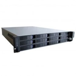 TGC 2U 12 bay hotswap server case, 650mm depth, 2U/Redundant 1+1 psu install