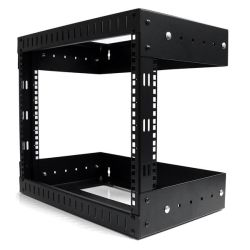 StarTech 8U Open Frame Wall Mount Equipment Rack - Adjustable Depth
