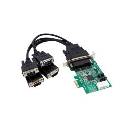 StarTech 4-Port Low Profile Native RS232 PCI Express Serial Card with 16950 UART
