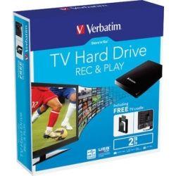 Verbatim Store'n'Go TV Hard Drive 2TB USB 3.0 - Black