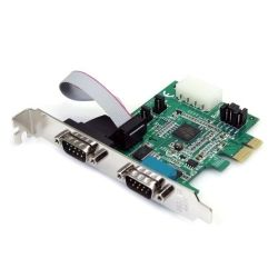 StarTech 2-Port Native PCI Express RS232 Serial Adapter Card with 16950 UART