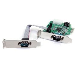 StarTech 2-Port Low Profile Native RS232 PCI Express Serial Card with 16950 UART