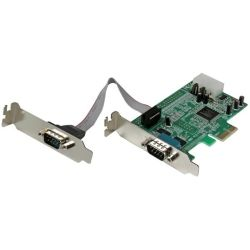 StarTech 2-Port Low Profile Native RS232 PCI Express Serial Card with 16550 UART