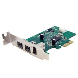 StarTech 3-Port 2b 1a Low Profile 1394 PCI Express FireWire Card Adapter