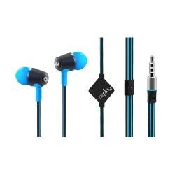 SonicGear Air Plug 100 Cyan In-Ear Headphones with Mic and Answer Function