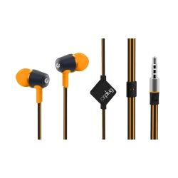 SonicGear Air Plug 100 S.Orange In-Ear Headphones with Mic and Answer Function