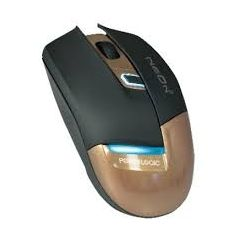 PowerLogic Neon 1 Metalic Mocca USB 4 Button Optical Mouse